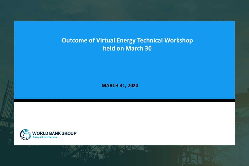 Outcome of Virtual Energy Technical Workshop